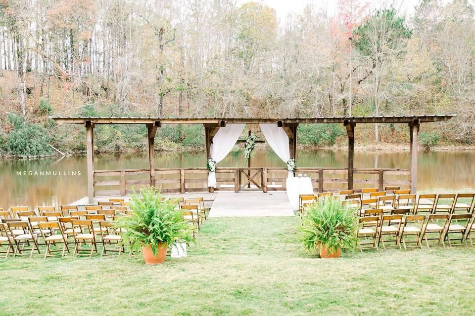 Pavilion for wedding ceremony