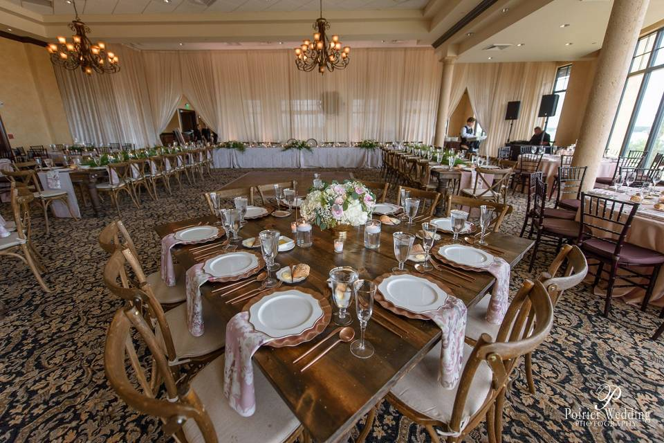 Square farm tables