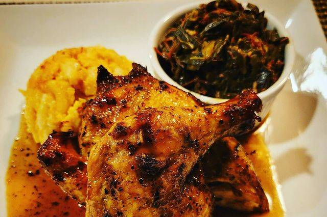 Honey Grill Cornish With Sides