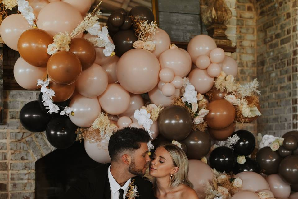 Balloons with light floral addition