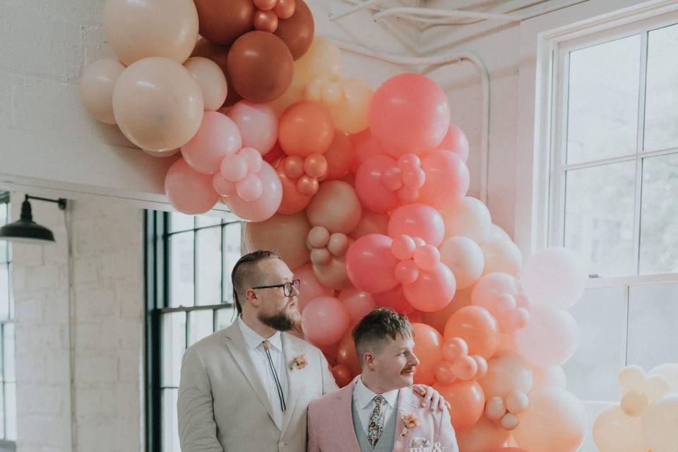Massive balloon garland