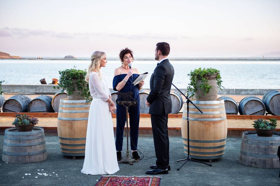 Beautiful ceremony on the bay
