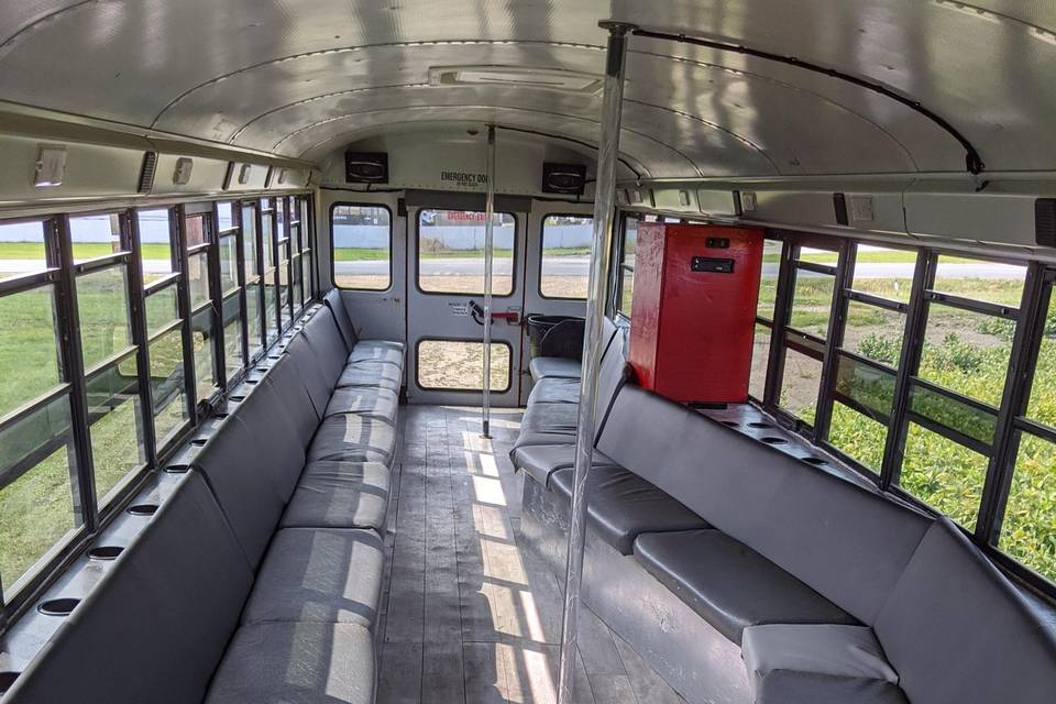 Red Limo Bus Interior