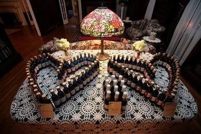 Having fun with wedding wine and cider favors