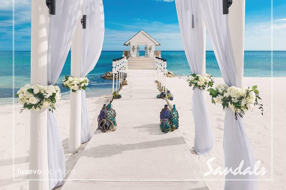 Destination wedding at Sandals