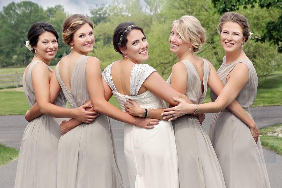 The grey dresses