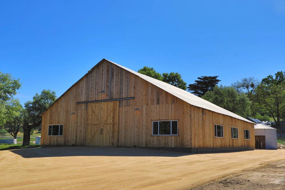 Rear view of barn