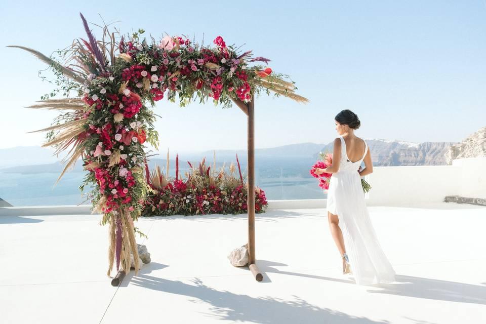 Gold Weddings Santorini-Gold Weddings Global