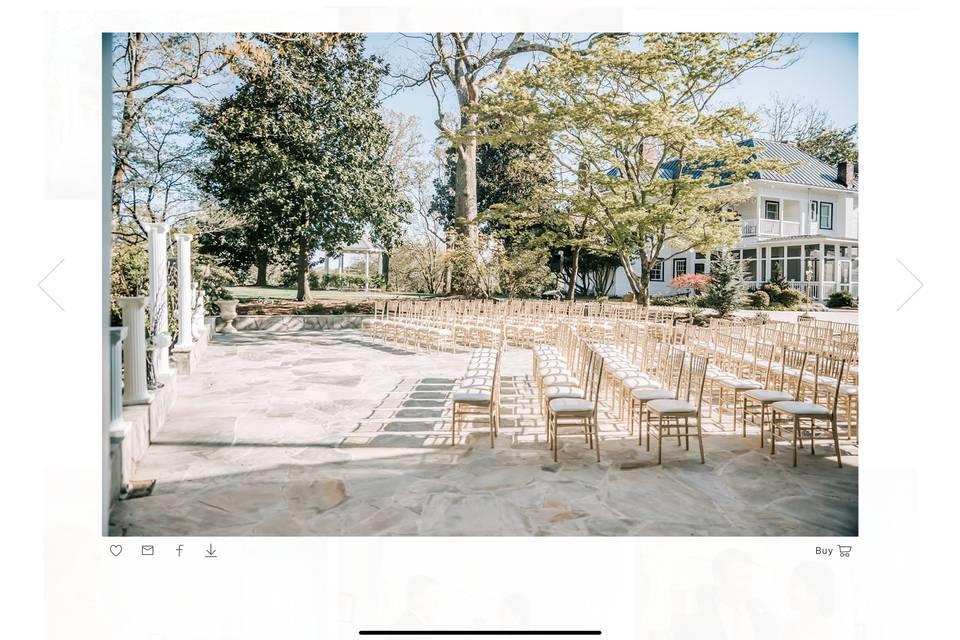 Ceremony on stone patio