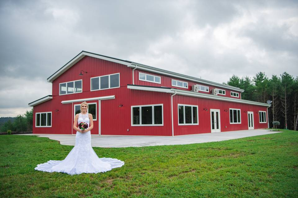The bride and the barn