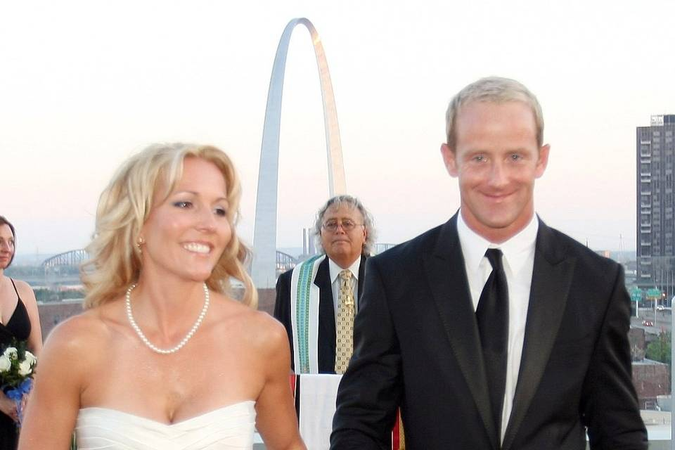 Wedding Ceremony overlooking the St. Louis Arch