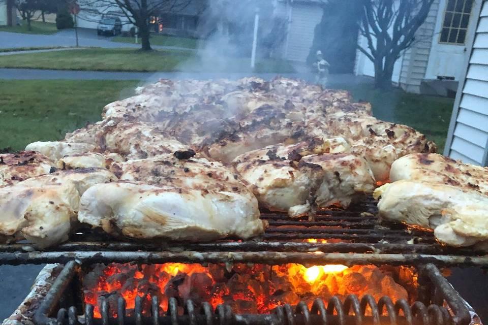 Grilled mar. chicken