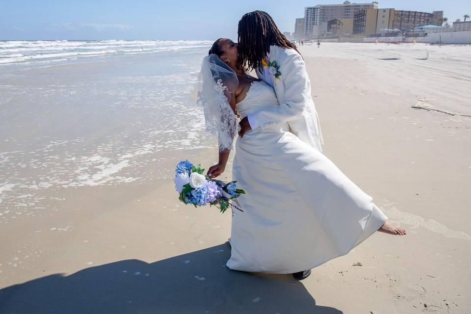 Gina and Jeremie Beach Wedding