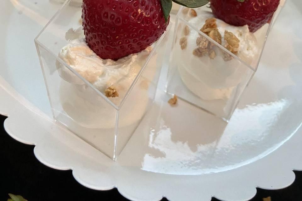 Strawberry Lemon Cream Parfait