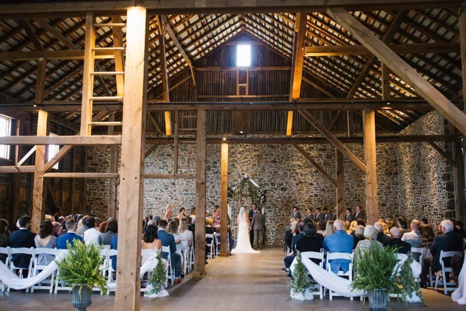 A barn ceremony