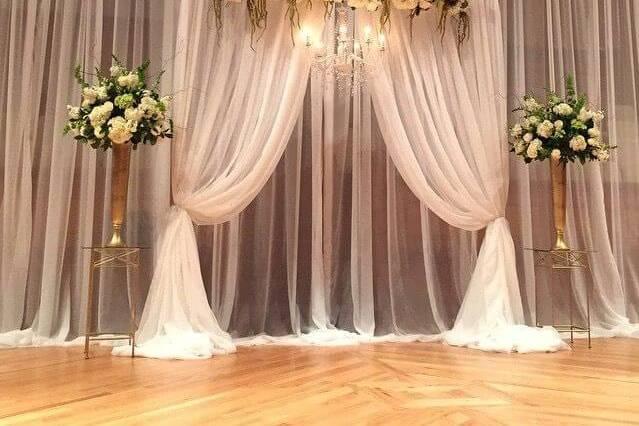 Ceremonie backdrop