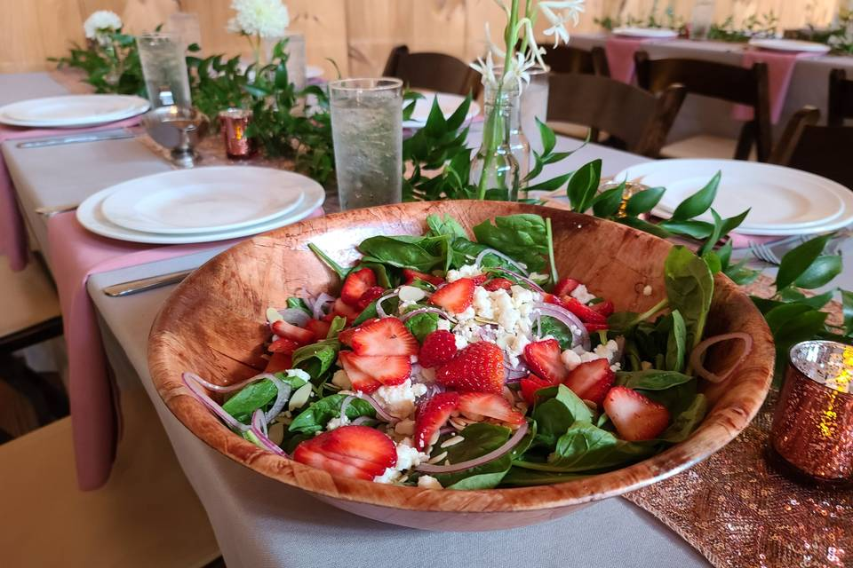 Spinach and Starwberry Salad