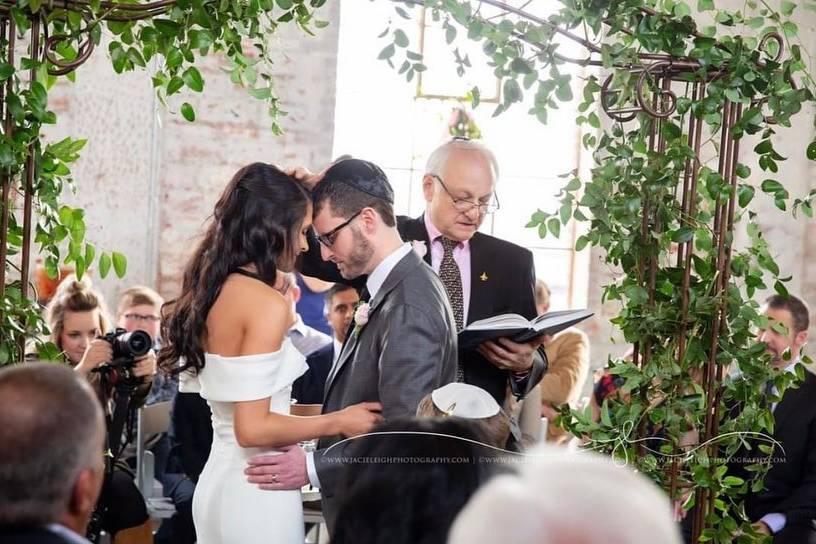Wedding under the arbor