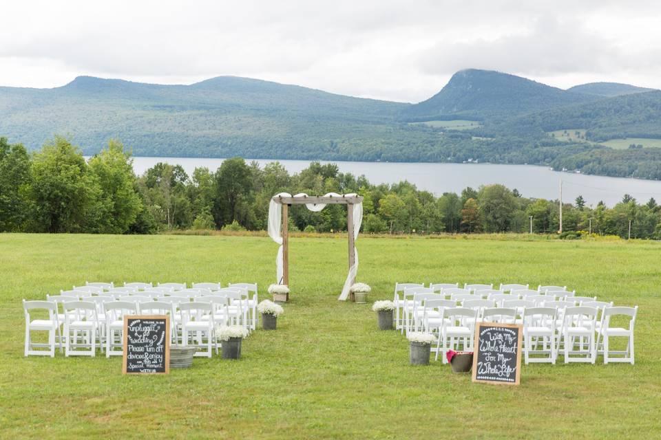 Perfect Cadence Events scenic ceremony