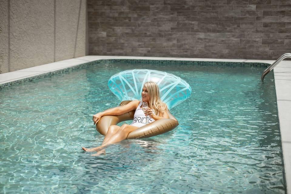 Private pool in bridal suite