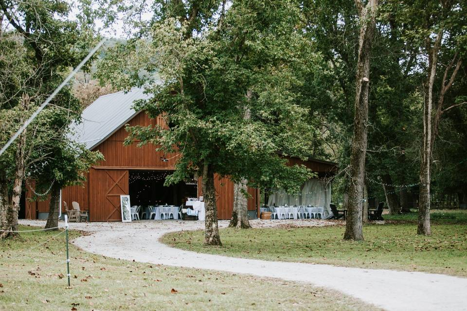 A view of the barn