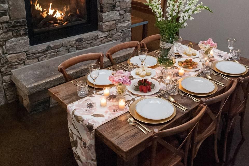 Dining table setup