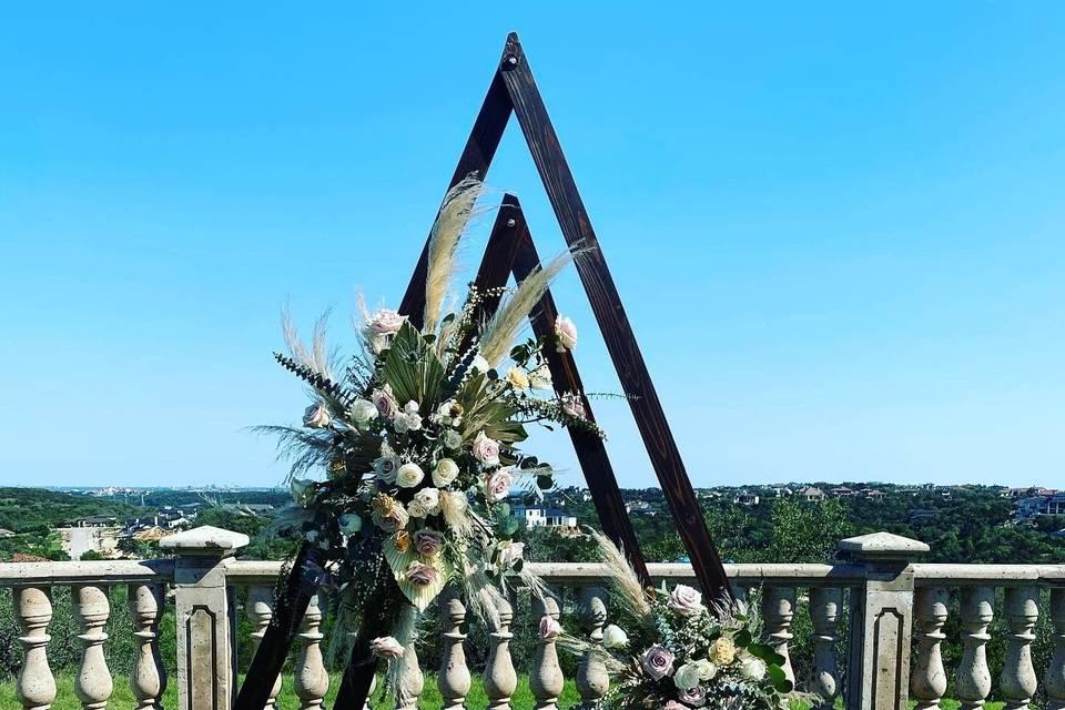 Boho ceremony arch