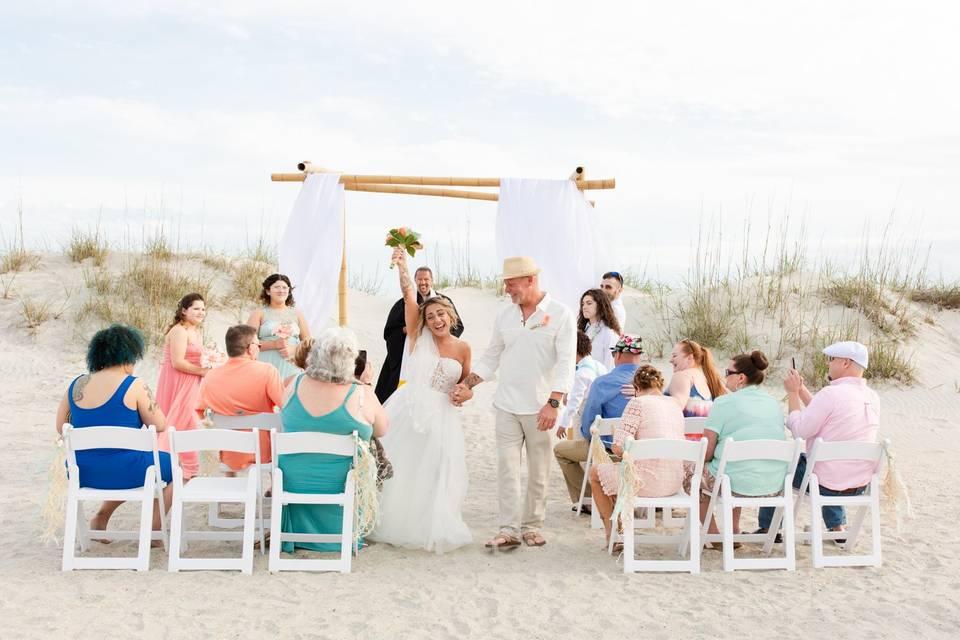 Intimate beach wedding!