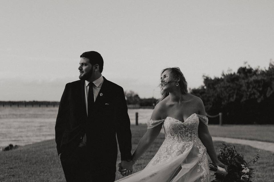 Bride and Groom Black and Whit