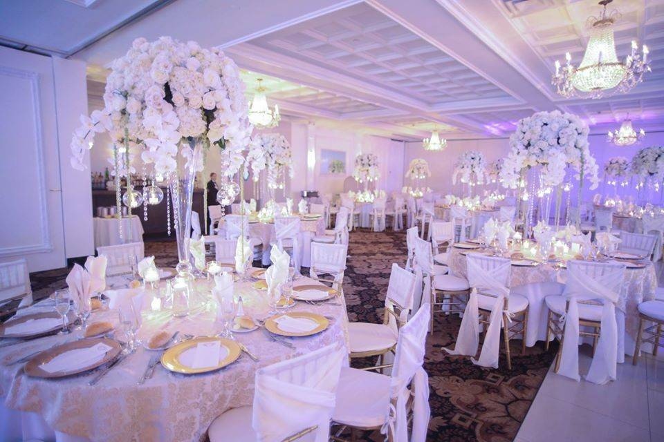 Decorated for a luxurious event