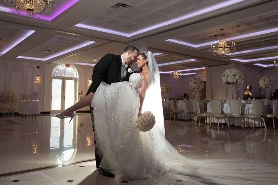 Couple in the ballroom
