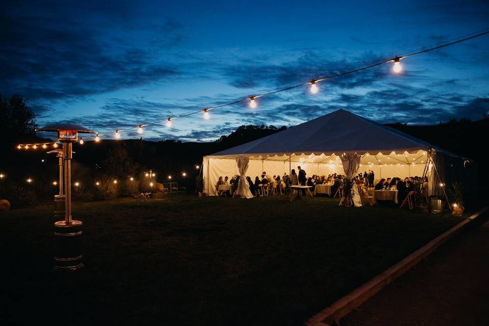 Reception in the tent