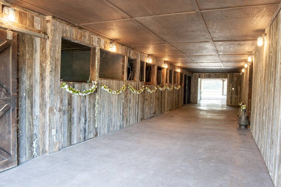 Decorated rustic stables