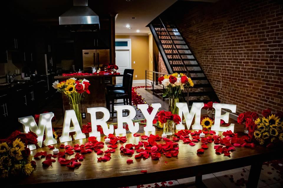 Wedding proposal philadelphia