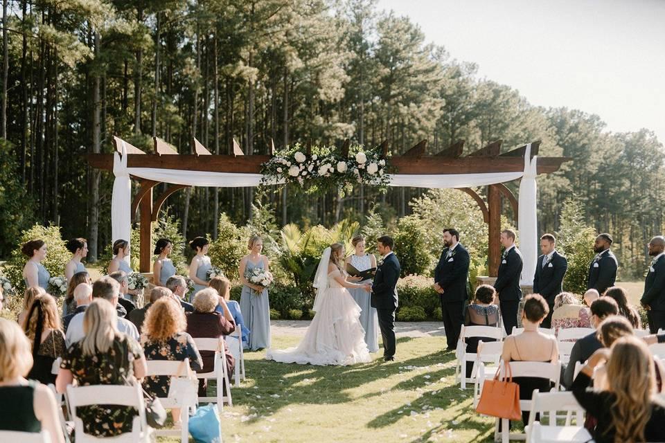 Ceremony at Pergola