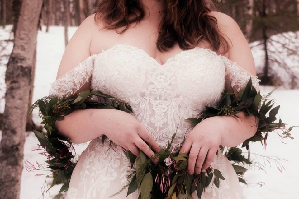 Alaskan winter elopement