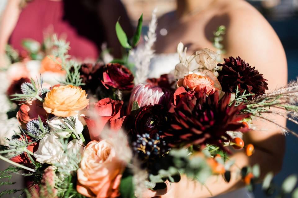 Romantic autumn bouquet
