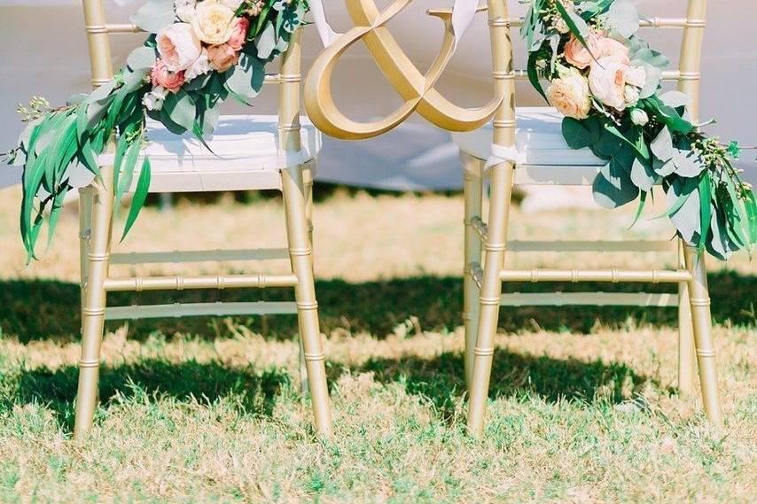 Romantic chair decor