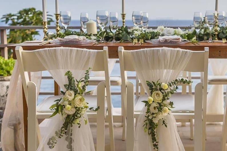 Ethereal chair sashes