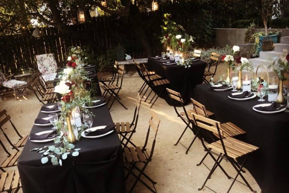 Roses as centerpieces