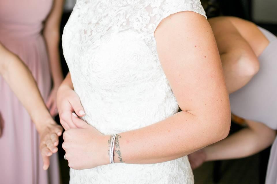 Danielle on her wedding day