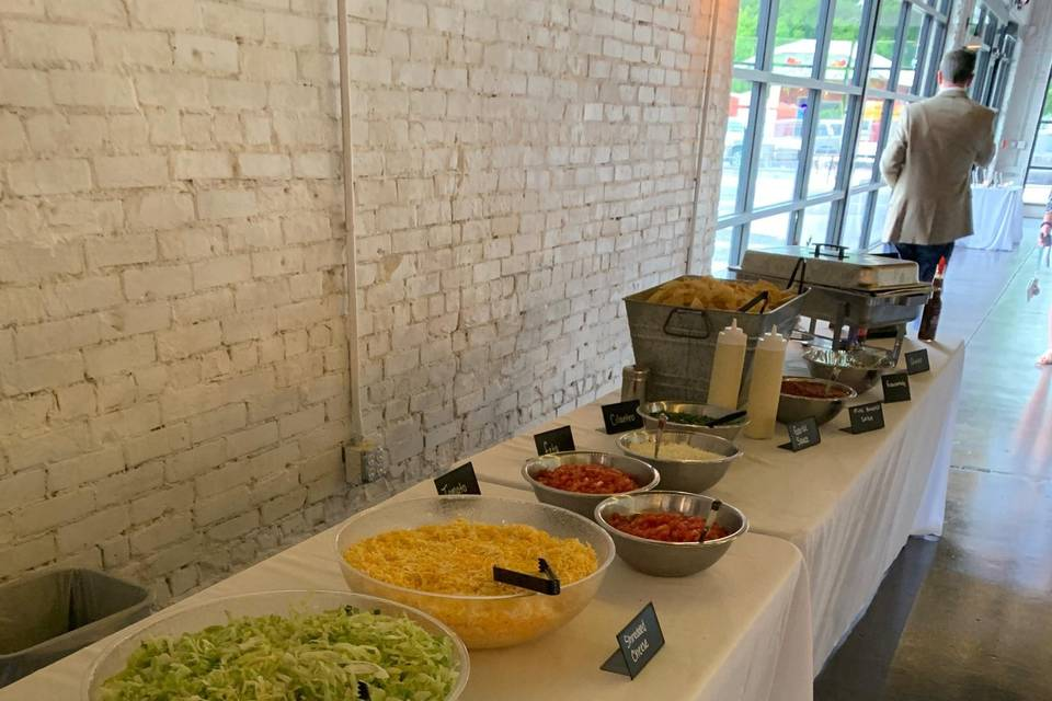 Several varieties of Mexican food