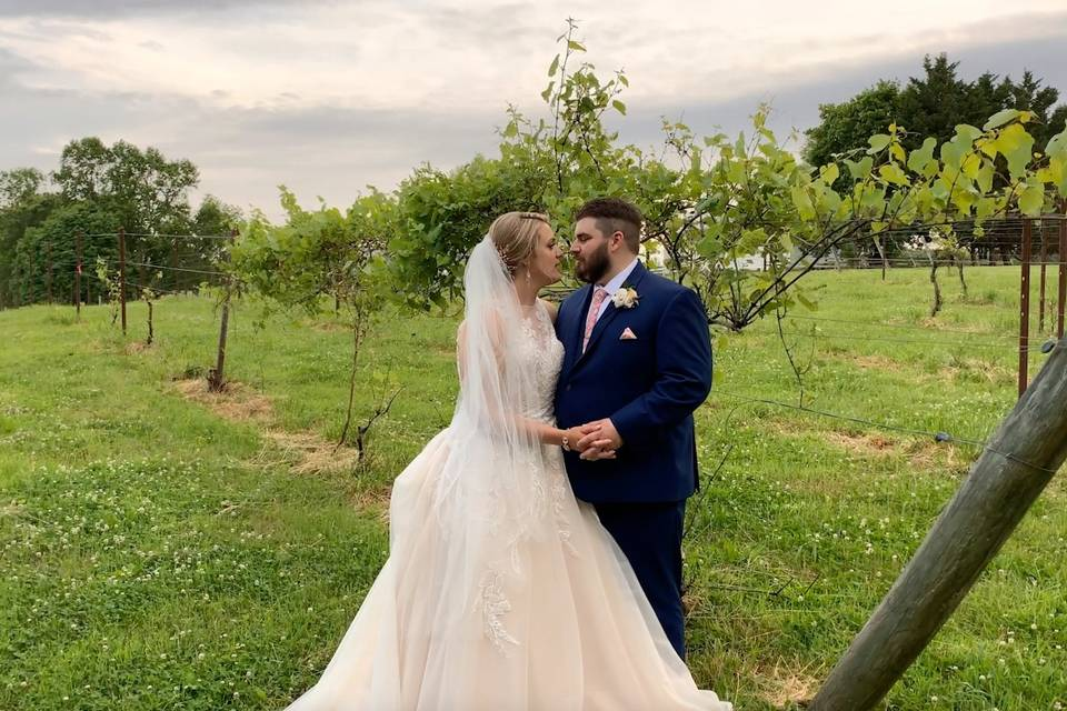 Married in a winery