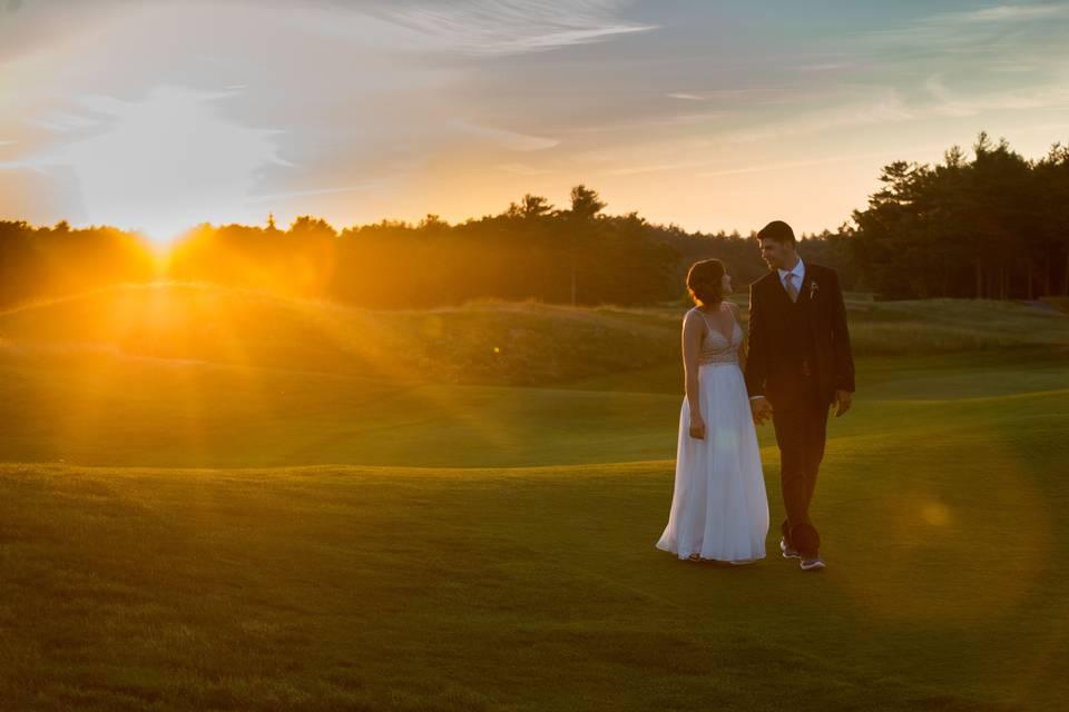 Beautiful Couple & Sunset