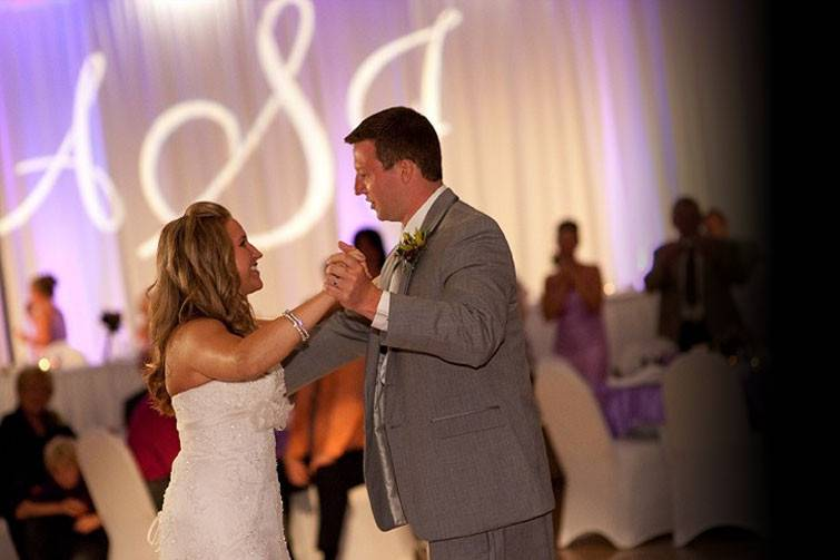 Newlyweds on the dance floor