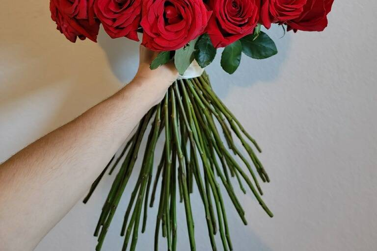 60 Red Rose Engagemen Bouquet