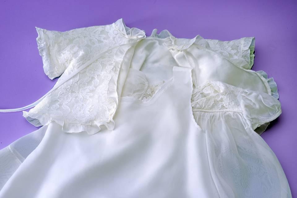 Delicate white garments