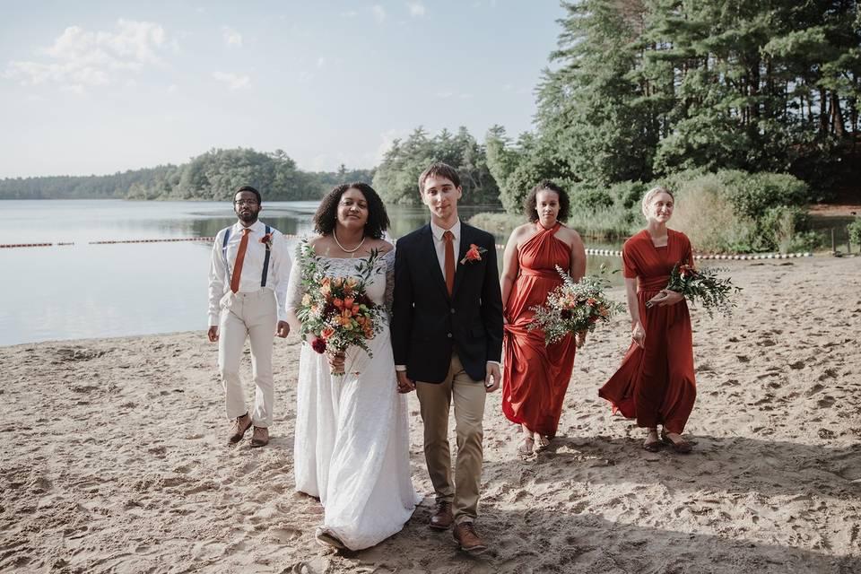 Bridal Party Walk