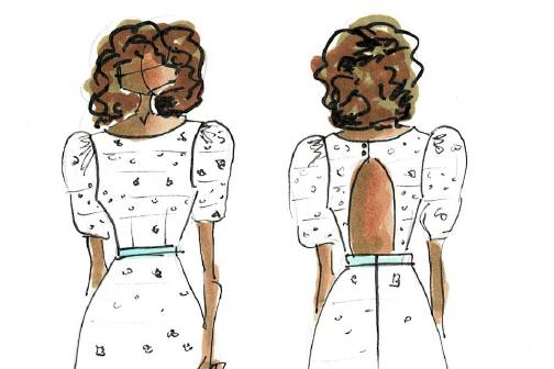 Custom Shower Dress