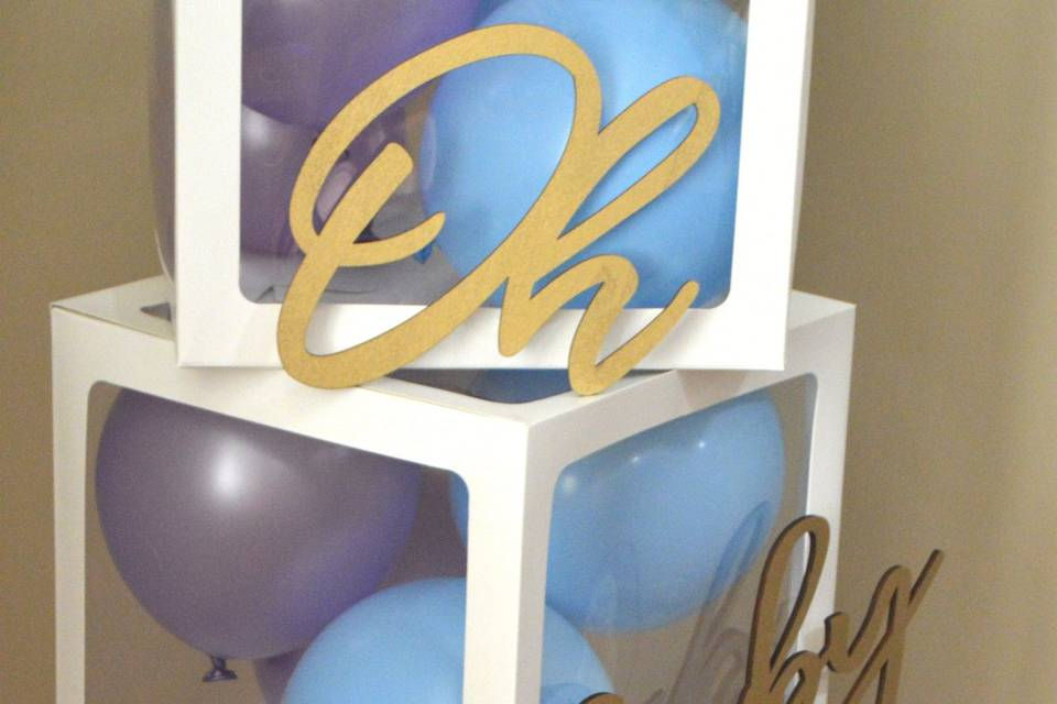 Purple and blue gender reveal